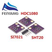 HDC1080 Si7021 SHT20 Industrial de Alta Precisão Umidade Sensor com Interface I2C GY-213V-SI7021