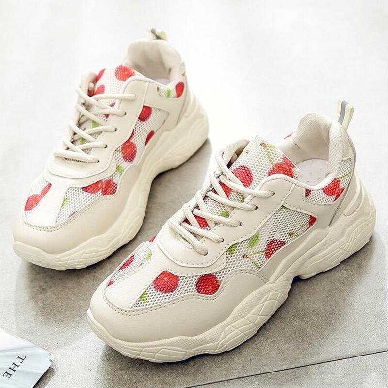 Новинка; сезон весна-осень; обувь из вулканизированного сетчатого материала; женские модные тонкие туфли на резиновой подошве;