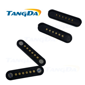 Pogo pin разъем тестовый pogopin 6p 6pin Магнитный пружинный шаг: 3 мм SMD SMT мужской женский зонд контактный 1A A