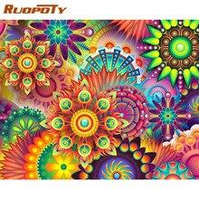RUOPOTY çerçeve DIY boyama By Numbers köprü manzara resim By Numbers yetişkinler için Modern duvar sanatı dekorları Handpainted Diy hediye