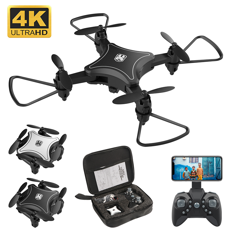 Mini Drone With Camera WiFi FPV 4K HD Altitude Hold RC Helicopter Drones Foldable Mini Quadcopter High Quality  Dron Toys
