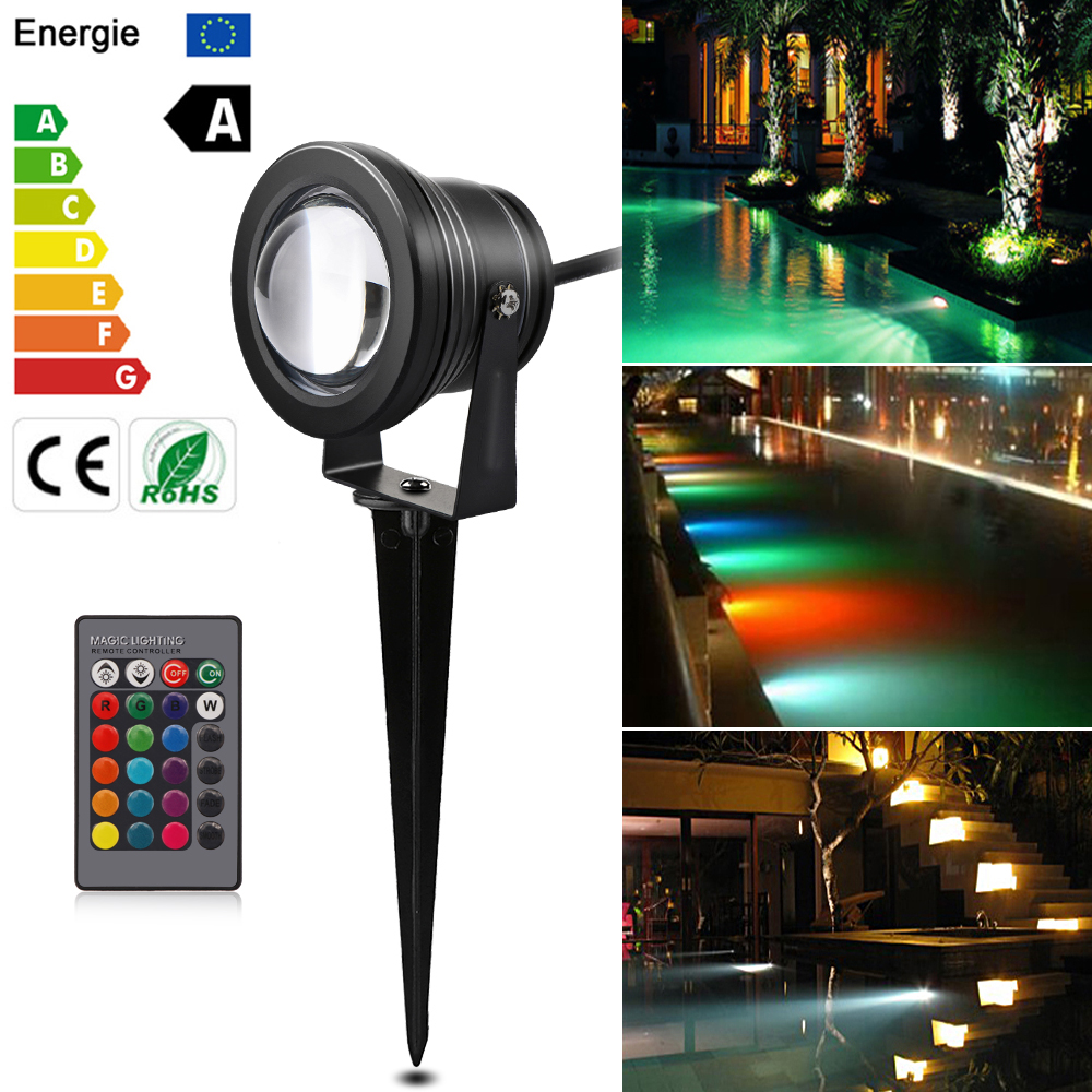 12V 10W LED Garden light tuinverlichting spot outdoor lighting RGB lawn lampada Underwater Landscape lights Waterproof IP65