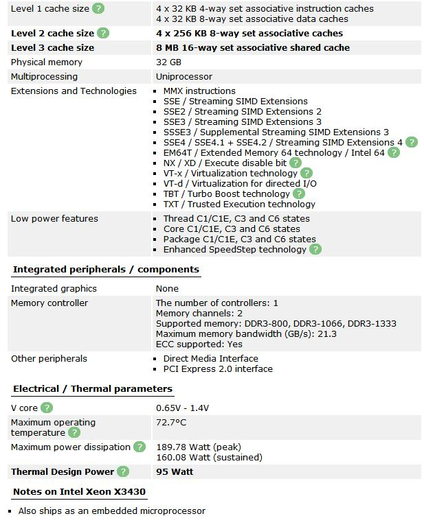 Intel Xeon X3430 8M Cache Quad Core 2.4GHz 95W LGA 1156 Desktop CPU 100% working Desktop Processor tested 100% working 4