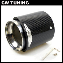 1 peça Dicas Silenciador Do Escape de Carbono Real para MINI Cooper JCW R50 R53 R55 R56 R57 R58 R59 R60 R61 F54 F56 F57 F60 Tubos de Escape
