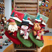 Hot selling flannel Christmas decorations pendants candy socks gift bags Christmas supplies ornaments home decorations decor christmas cookies man women candy cans candy boxes christmas ornaments decorations inventory clearance
