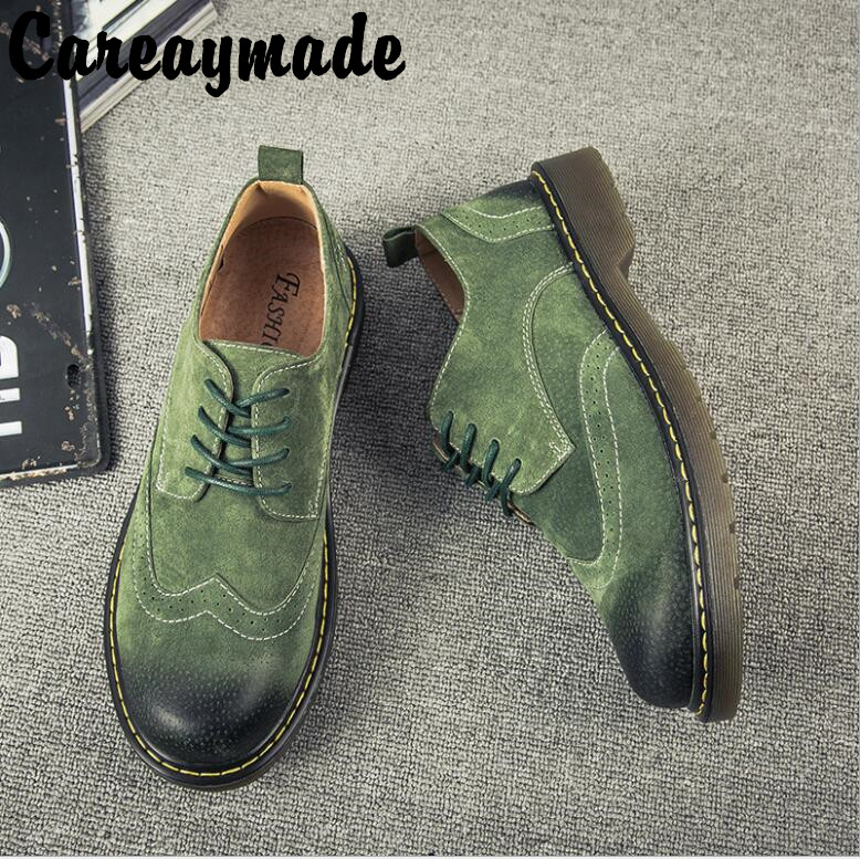 Careaymade-New Fashion low Martin shoes pure color round head comfortable breathable British anti fur casual shoes