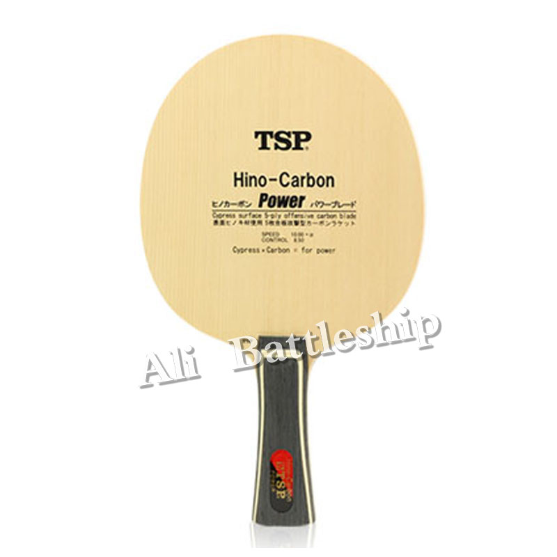 TSP Hino-Carbon Power (Li Jiawei's) Table Tennis Blade (3+2 Carbon, Hinoki Surface) Racket Ping Pong Bat