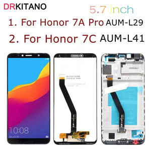 """Image 1 - 5.7"""" Display For Huawei Honor 7C LCD Display 7A AUM L41 ATU LX1 L21 Touch Screen For Huawei 7A Pro Display With Frame AUM L29"""