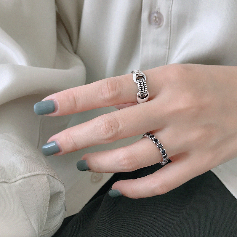 Adjustable-Ring Fine-Jewelry Elegant-Accessories 925-Sterling-Silver Vintage Women Authentic