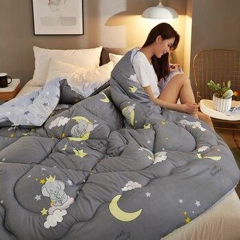 Warm/Comfortable Winter Comforter For Christmas Gift 100% Superfine Fiber Polyester Blanket Duvet Quilt Cute Style Comforter CF2