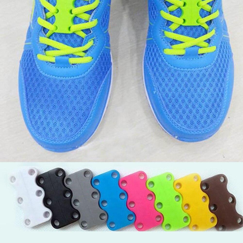 1 Pair 6 Colour ShoeLaces Magnetic Shoelace Buckle Lazy Closures Lace Chaussure Shoe Laces No To Tie Lazy Shoe Laces Buckle