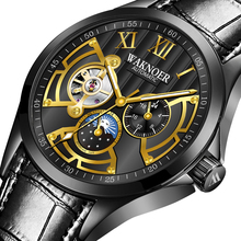FORSINING Classic Fashion Sport Gold Steel Men Automatic Watch Top Brand Luxury Creative Skeleton Mechanical Watch Clock