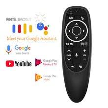 L8star G10 Pro Air souris rétro éclairage Microphone voix Gyroscope intelligent IR télécommande 2.4G souris sans fil pour Android TV BOX