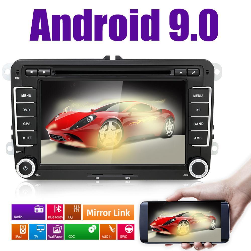 2 din автомобильный DVD android 9,0 на POLO GOLF 5 6 Passat CC Tiguan Fabia Caddy EOS T5 кассетный магнитофон