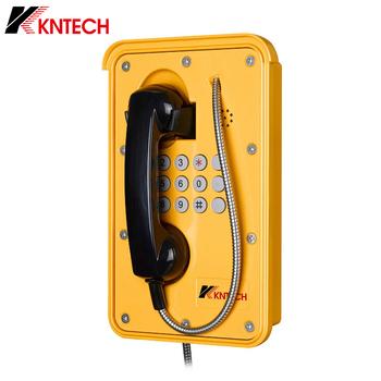 Telefon Voip Heavy Duty wodoodporny telefon aluminiowy wandal magnetyczny żółty telefon z pełną klawiaturą KNSP-09 do metra tunelu tanie i dobre opinie KOON