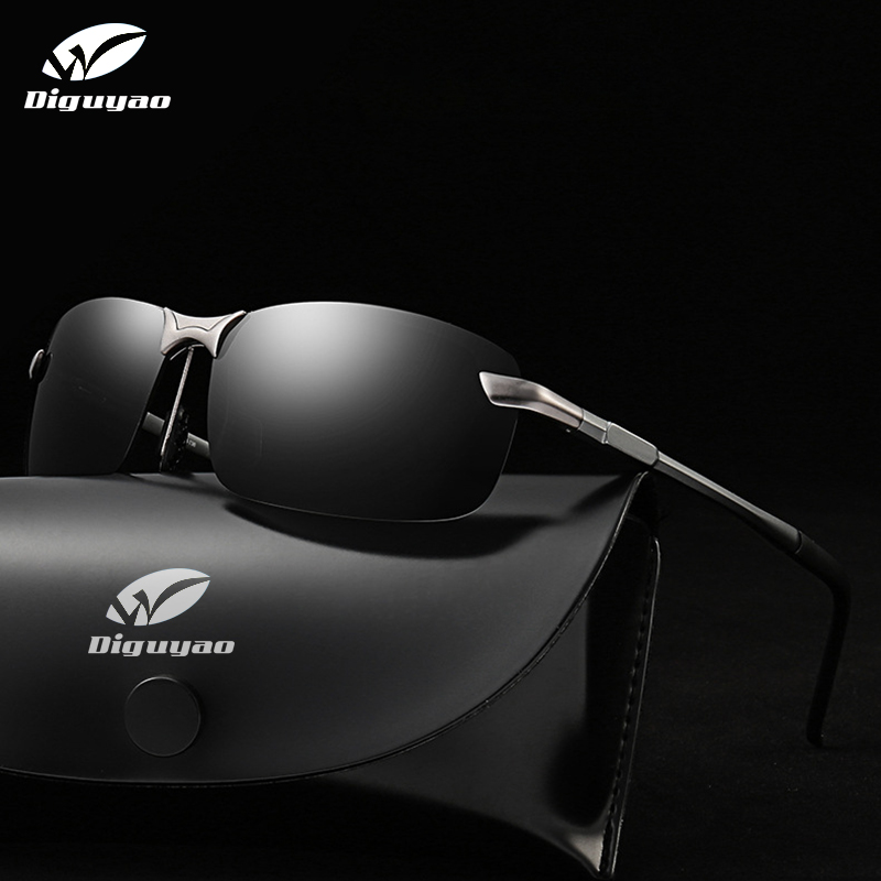 DIGUYAO Classic Driving Photochromic Sunglasses Men Polarized Chameleon Descoloration Óculos de sol para homens Óculos anti-reflexo