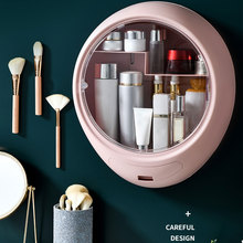 Wall Hanging Makeup Storage Box Drawer-type Bathroom Makeup Organizer ABS Plastic Transparent Dustproof Cosmetics Box drawer makeup organizer cosmetics storage box organizador maquillaje transparent plastic box lipstick jewelry display stand