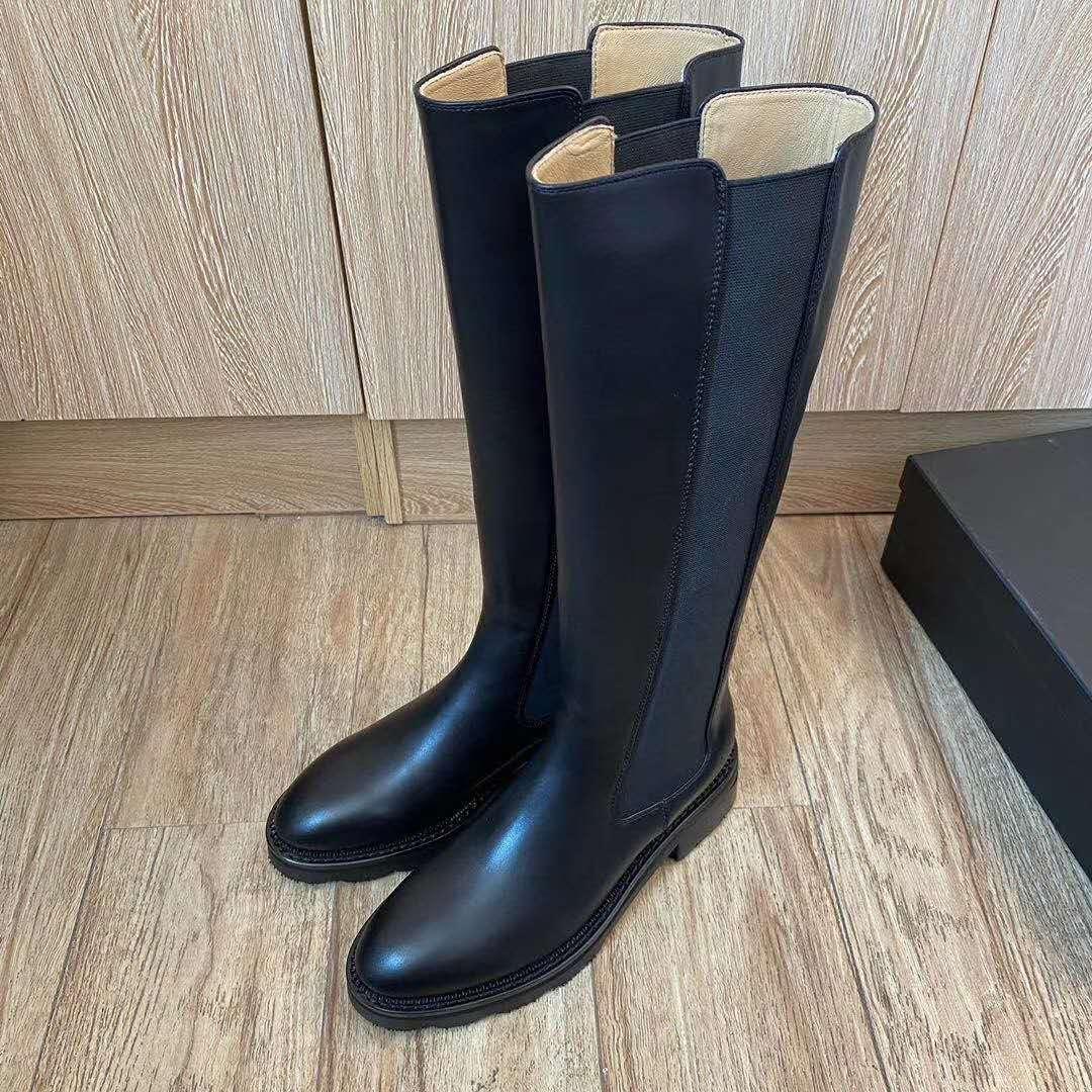 tubo de couro all-match botas femininas