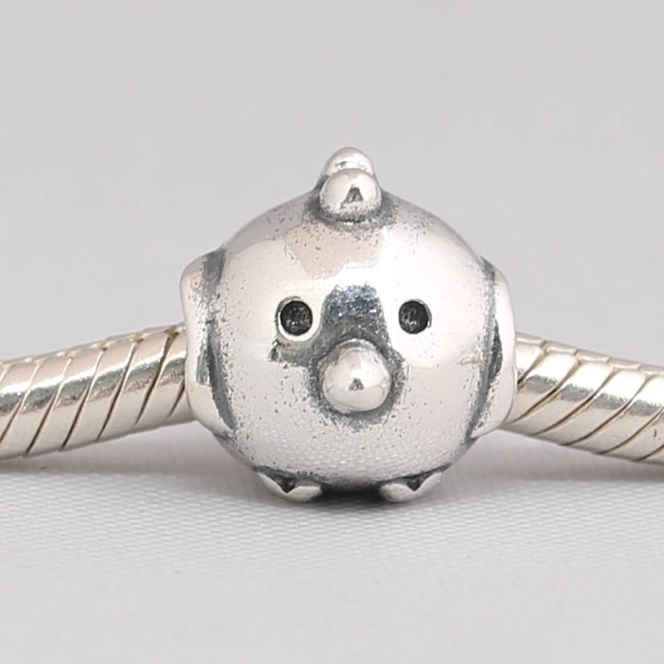 Authentic S925 Sterling Silver DIY Jewelry Cute Chick Charm fit Lady Bracelet Bangle Lady Gift Bead(China)