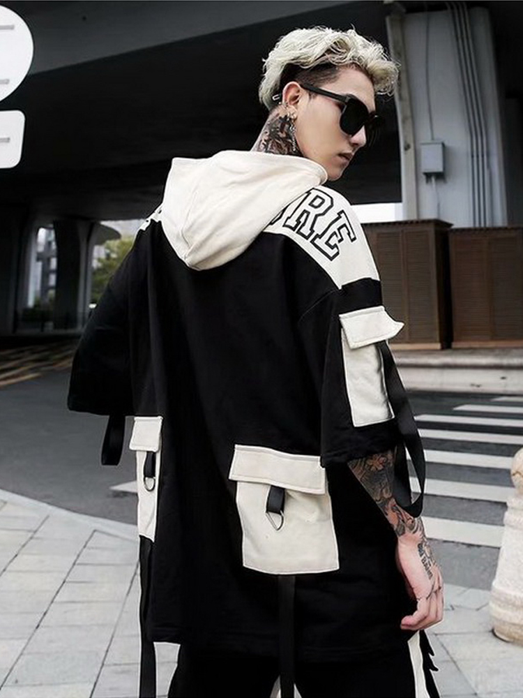 2020 2020 Summer Short Sleeves Harajuku Korea Fashion Streetwear One Piece Rock Punk Men Hoodies Sweatshirt Clothes From Xiatian8 50 11 Dhgate Com