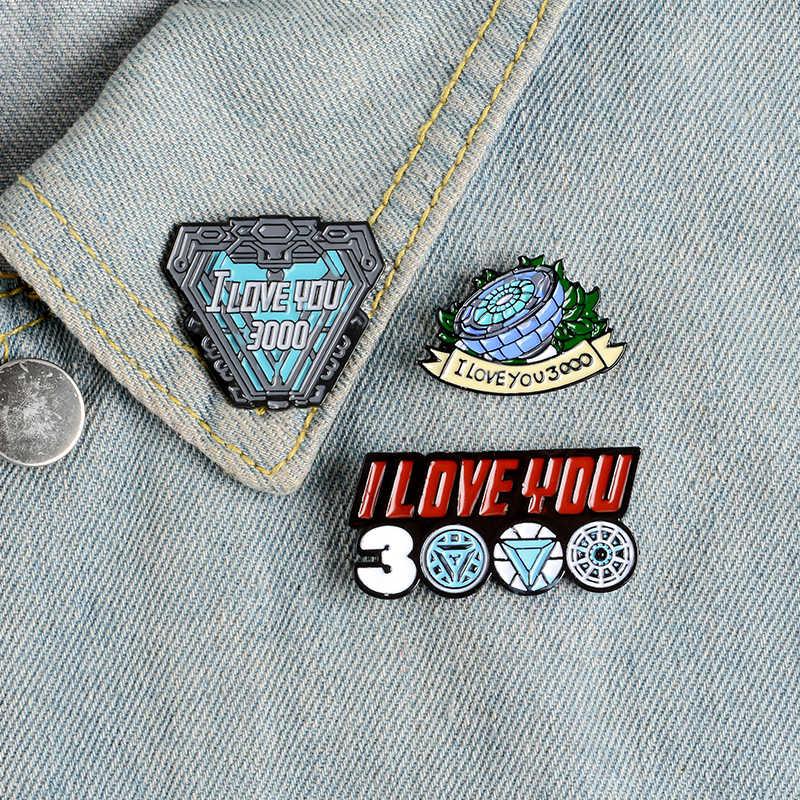 Aku Kekasih Anda 3000 Kali Enamel Film Pahlawan Bros Hangat Penawaran Kerah Pin Tas Pakaian Lencana Hadiah untuk Para Penggemar teman