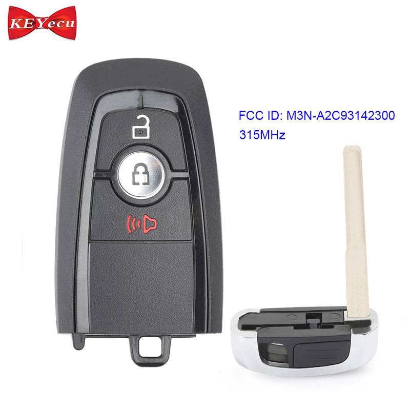 KEYECU for Ford Edge Ecosport Explorer F 150 F250 F350 Fusion Remote Control Car Key Fob