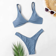 Maillot de bain brésilien sexy deux pièces pour femme, bikini avec soutien-gorge push up, ensemble féminin de plage