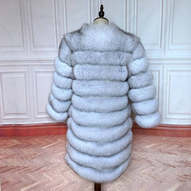 2020 Real Fox Fur Coat Women Natural Real Fur Jackets Vest  Winter Outerwear Women Clothes 5