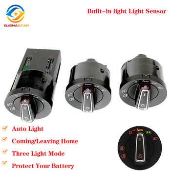 AUTO Headlight Switch Light Sensor Module Upgrade Chrome For Golf 4 J etta MK4 Passat B5 P olo Caddy Golf 6 GOLF 7 Tiguan - DISCOUNT ITEM  5 OFF All Category