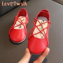 Toddler Girls Shoes Bandage Red White Girls