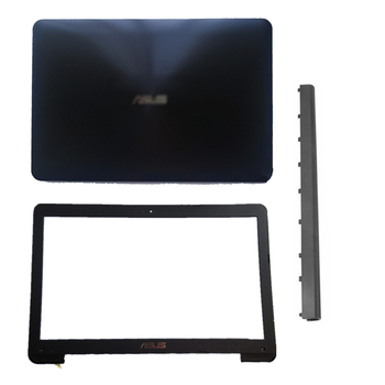 NEW Laptop LCD Back Cover/Front Bezel/Hinge Cover For ASUS X554 F554 K554 X554L F554L Plastic Black Top Case