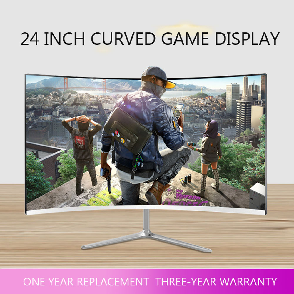 <font><b>24</b></font>/32 <font><b>Inch</b></font> <font><b>LCD</b></font> Monitor For Computer 144Hz PC Desktop Home Office Monitoring HD Screen Full Color <font><b>Display</b></font> Game Without Borders image
