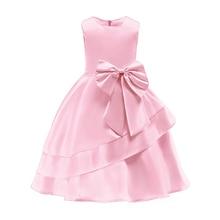 Childrens Birthday Party Dress Kids Princess Summer Lace Weeding Dresses Girls Ball Tutu Prom Teen Costume