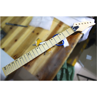 disado 24 Frets wood color maple Electric Guitar Neck maple fingerboard inlay dots glossy paint Guitar accessories parts