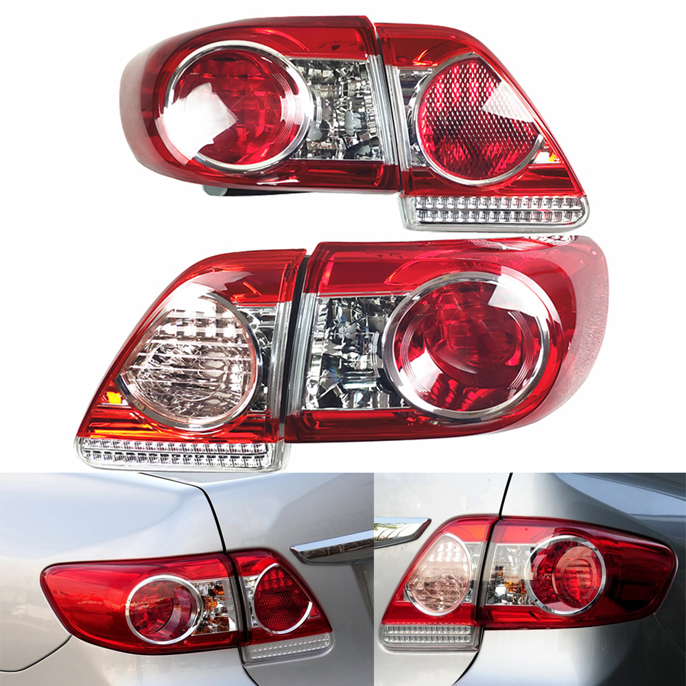 Tail Lamp For Toyota Corolla 2010~2013 Car Light Assembly Auto Rear Tail Light Turning Signal Brake Lamp Warning Bumper Light