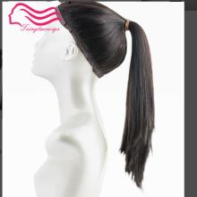 Чудо-парик, европейские девственные волосы спортивный бандаж, парик пони, tsingtaowigs необработанные волосы(Кошерный парик