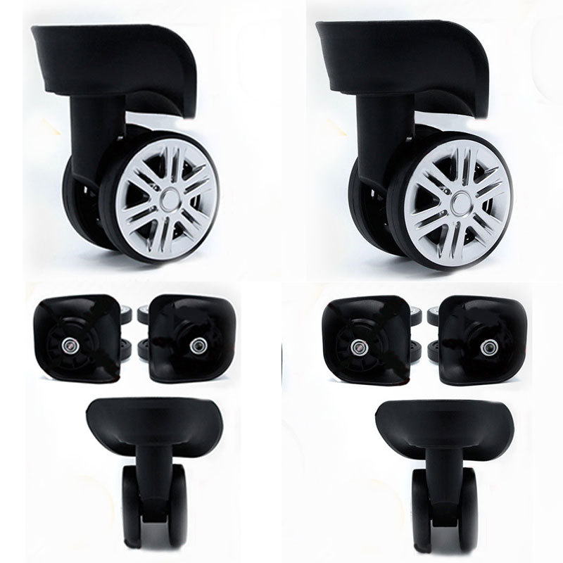 A08 Silent Replacement Luggage Wheels Suitcases Repair Trolley Case High Quality Black Rubber Wheels Parts Accessories Wholesale