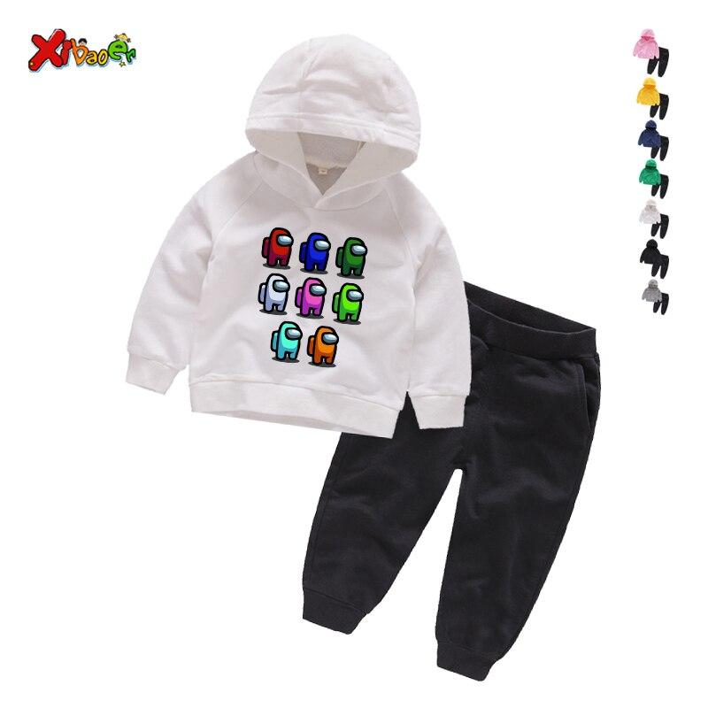 Game Among Us Hoodies Pants Suit for Teens Girls Boys Children Cartoon Anime Sweatshirt Suit Kids Autumn Winter Clothes Sudadera 5