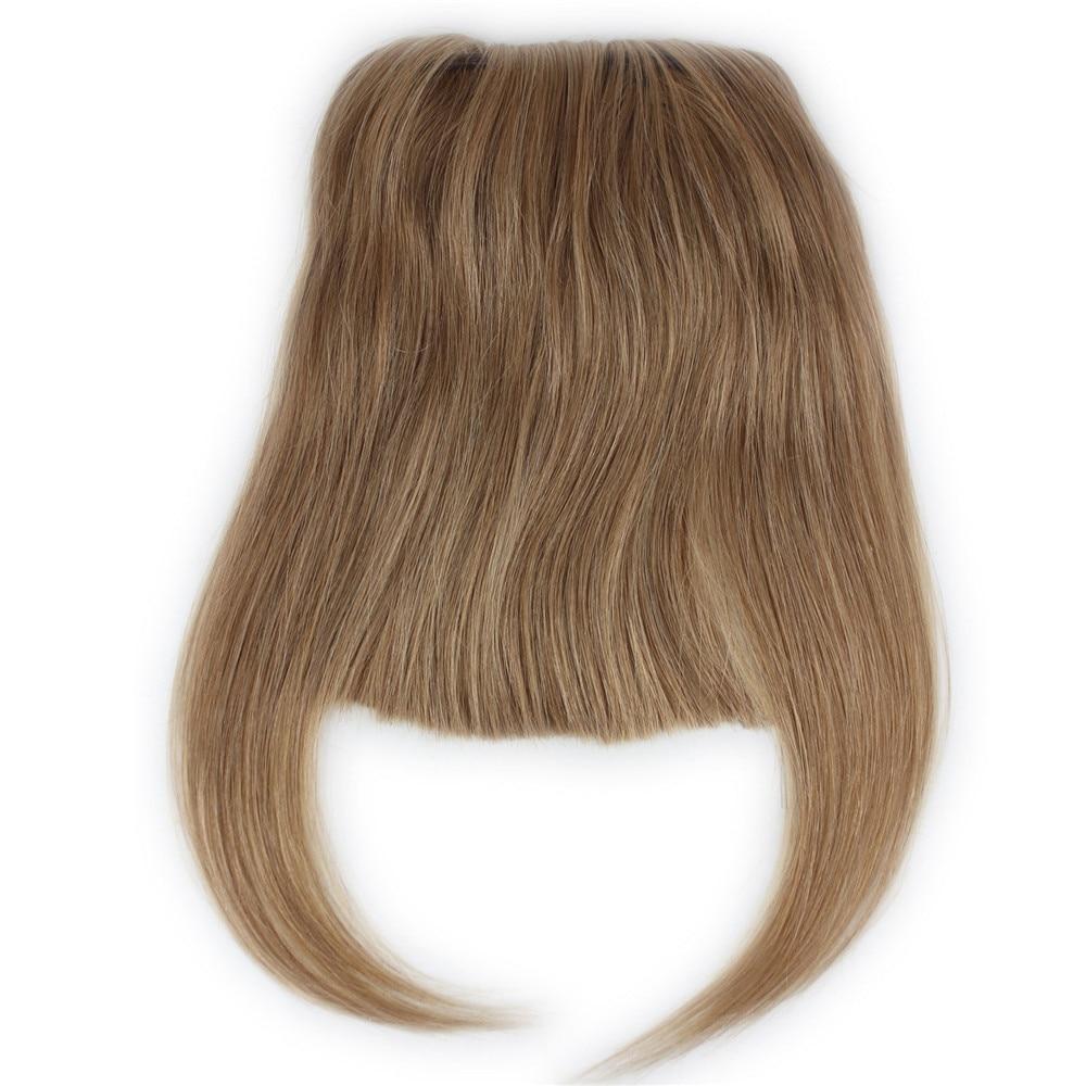 Hair-Extension Bang Human-Hair Full-Fringe Clip-In Brazilian for Women 6-8inch Short