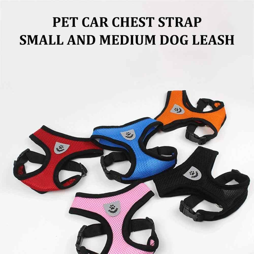 Verstelbare Harnas Hond Puppy Pet Honden Vest Auto Running Kleine Medium Grote Gewatteerde Verstelbare Pet Puppy Honden Zachte Vest