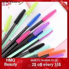 HMQ cepillo de Gel de silicona desechable para pestañas, varitas para rímel, herramienta de extensión de pestañas, herramienta profesional de maquillaje de belleza para mujeres