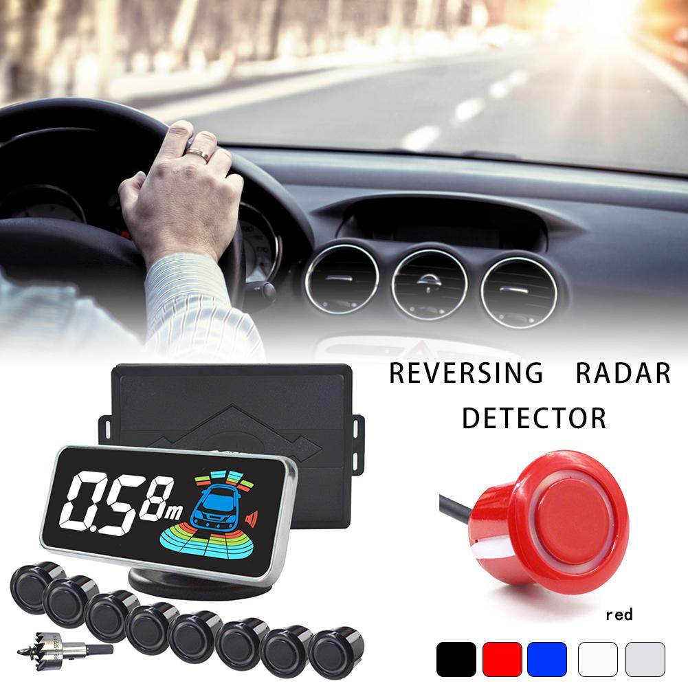 12VDC capteur de stationnement Radar de stationnement inverse QXNY 8 capteurs voiture Automobile Radar de recul Parking détecteur de voiture aide au stationnement