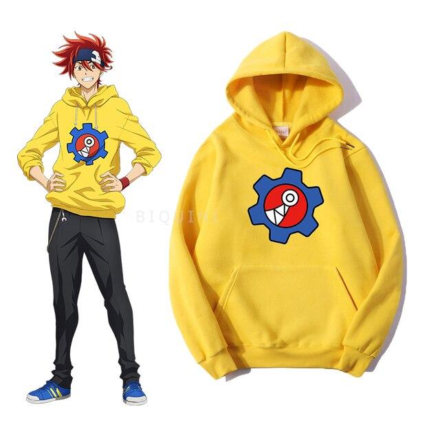 SK8 The Infinity Reki Yellow Hoodie Women/Men Skateboard Cool Boy Same Style Carton Logo Unisex Sweatshirt Spring Streetwear Top 1