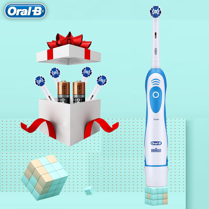 Original <font><b>Oral</b></font> <font><b>B</b></font> Sonic Electric Toothbrush Teeth Whitening NoRechargeable Rotating Ultrasonic Automatic Replacement Heads Hygiene image