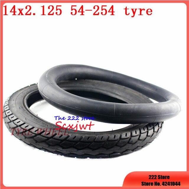 """neumático para motocicleta eléctrica 14 /""""14X1,75//1,95//2.125//2,5//3,0 boquilla de"""