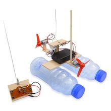 RC Boat Ready-To-Go Educational-Model Remote-Control Wooden Electric Toy CE D0AF 2-Channels