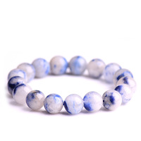 Fine JoursNeige Bluse Hair Natural Crystal Bracelets Round Beads Bracelets for Women Men Lucky Single lap Jewelry Accessories