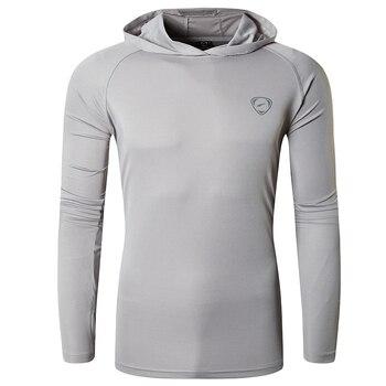 Jeansian Men's UPF 50+ UV Sun Protection Outdoor Long Sleeve Tee Shirt Tshirt T-Shirt Beach Summer LA271 LightGray