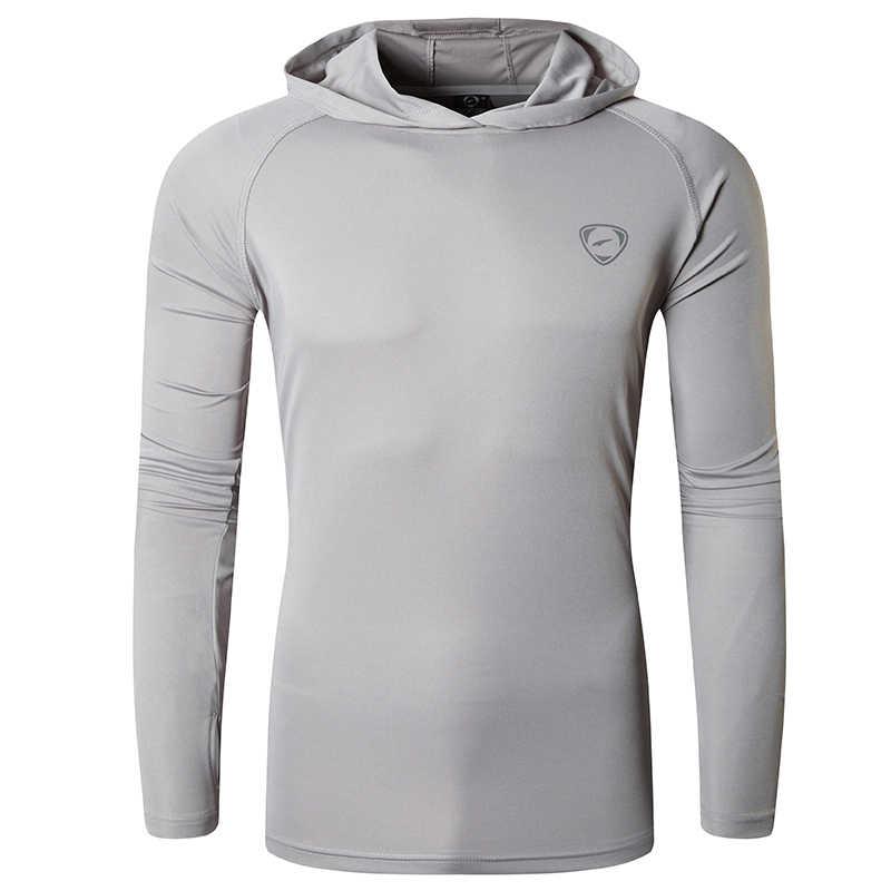 を jeansian メンズ upf 50 + uv 太陽保護屋外長袖 tシャツ tシャツ tシャツビーチ夏 LA271 ライトグレー