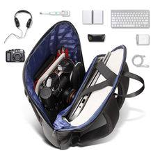 BOPAI-mochila para ordenador portátil de 15,6 pulgadas Unisex, bolsa ultraligera, negra, delgada, para oficina y trabajo